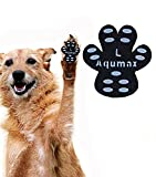 Aqumax Dog Anti Slip Paw Grips Traction Pads,Paw Protection with Stronger Adhesive, Non-Toxic,Multi-Use on Hardwood Floor or Injuries,12 sets-48 Pads L Black