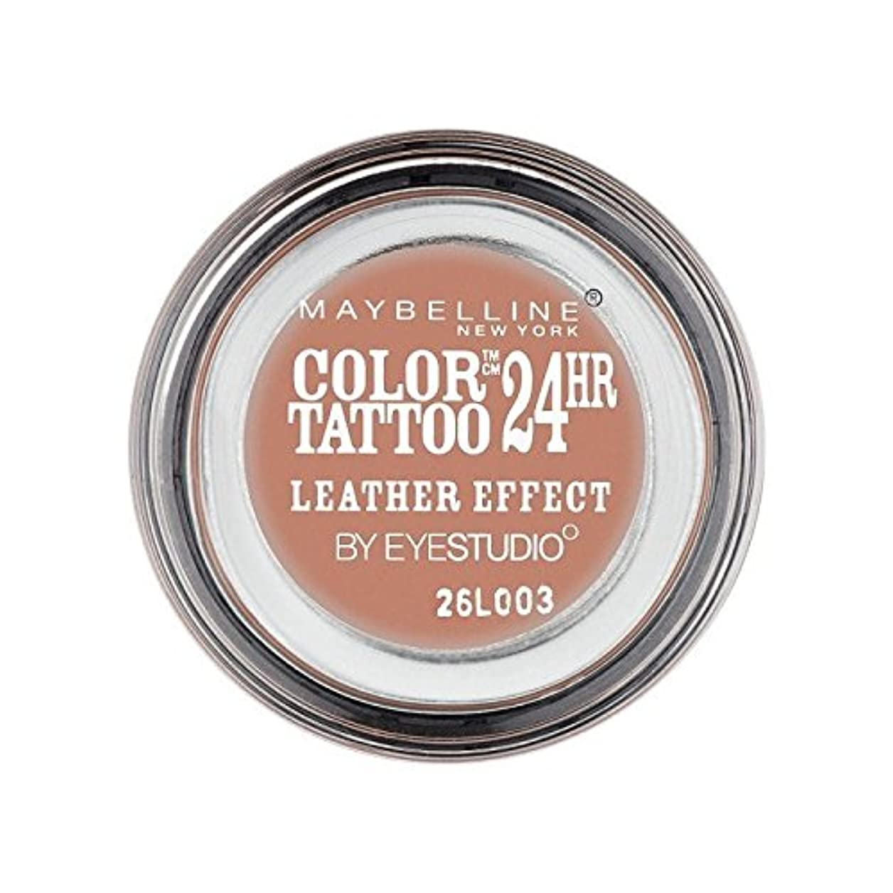 長くするトラクター作家Maybelline Color Tattoo 24Hr Eyeshadow Leather Effect 98 (Pack of 6) - メイベリンカラータトゥー24時間アイシャドウレザー効果98 x6 [並行輸入品]