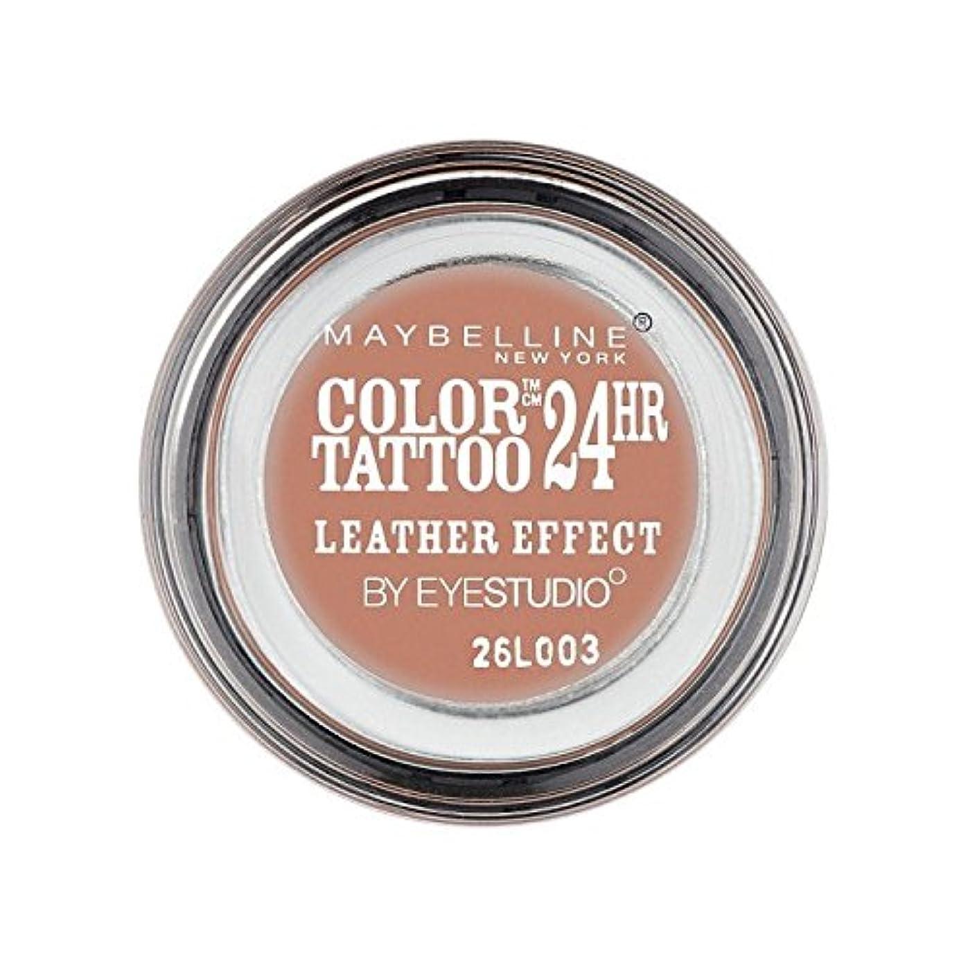 取り出すスイ洋服Maybelline Color Tattoo 24Hr Eyeshadow Leather Effect 98 (Pack of 6) - メイベリンカラータトゥー24時間アイシャドウレザー効果98 x6 [並行輸入品]