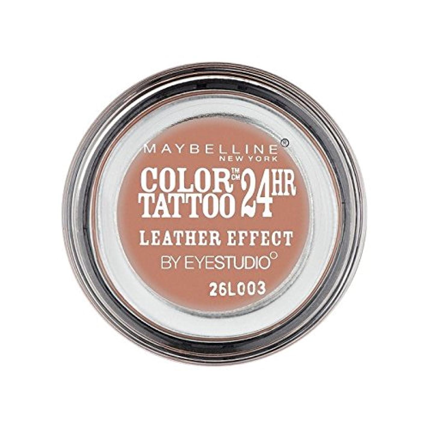 倫理繊細スキルMaybelline Color Tattoo 24Hr Eyeshadow Leather Effect 98 (Pack of 6) - メイベリンカラータトゥー24時間アイシャドウレザー効果98 x6 [並行輸入品]