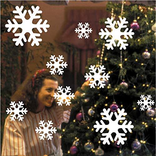 Cczxfcc Op Verkoop10 Stukken Witte Sneeuwvlok Muurstickers Ramen Glas Sticker Kerst Home Decoraties Stickers voor Kinderen Kamers