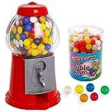 Zeus Party DISTRIBUTORE Caramelle + 500 gr di GOMME da Masticare Colorate - Salvadanaio Dispenser Rosso Chewing Gum Sfere Palline Colorate