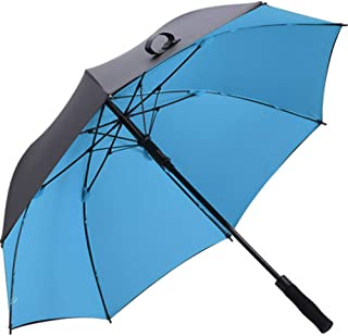 自動傘防風二重目的大強化長柄黒赤青 (色 : 青)