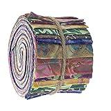 SewCrafte Batik Floral Jelly Rolls Stoffstreifen zum