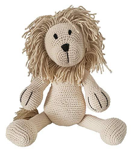 LOOP BABY gehäkelter Löwe Leo - gehäkeltes Kuscheltier für Baby/Junge/Mädchen aus Baumwolle