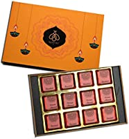 Queen & Bee Assorted Chocolate Gift Box – 12Pc ( Caramel, Hazelnut, Orange Almond) (Diwali Gift Pack) A