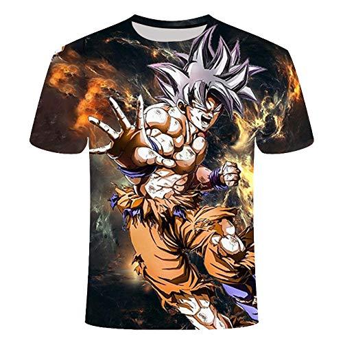 ZIXIYAWEI 3D Camisetas para Hombre,Patrón De Niño De Dibujos Animados De Dragon Z Camiseta Unisex Impresa En 3D Camisetas De Manga Corta Casuales Personalizadas De Verano Tops-5Xl