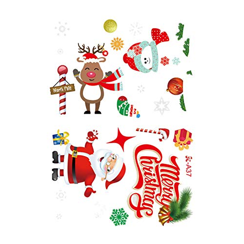 Fineday Current Christmas Holiday Window Glass Electrostatic Paste Sticker Decoration, Wall,for Christmas Day (B)
