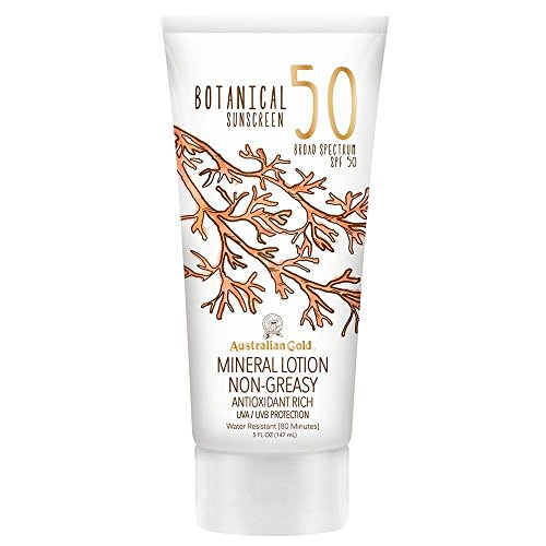 Australian Gold Botanical Sunscreen Mineral Lotion SPF 50, 5 Ounce | Broad Spectrum | Water Resistant