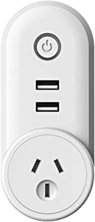MONEIL WIFI Smart plug Socket Outlet with 2 USB Charging Port (5V 2.1A),| Compact & Easy To Use | Turn on/off Switch | Con...