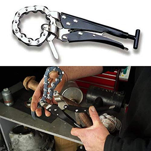 Ikunde Tailpipe Cutter, Exhaust Pipe Cutter Chain Tool Works, Exhaust Tail Pipe Cutter