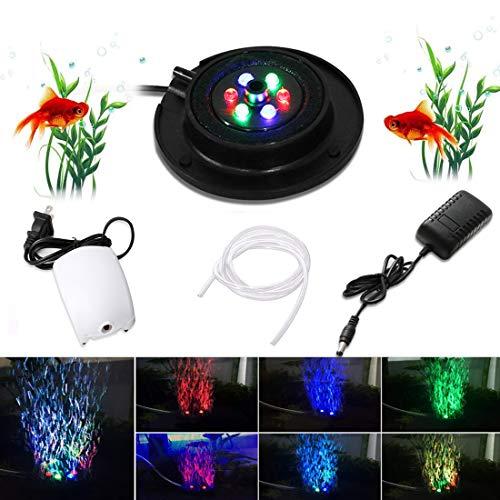 Acquario Fish Tank LED Illuminazione, Illuminazione Subacquea dell'acquario del LED con Pompa ad Aria, IP68 Impermeabile, Luci Decorative per Acquari Adatto per pesci d'acqua dolce, piante di corallo