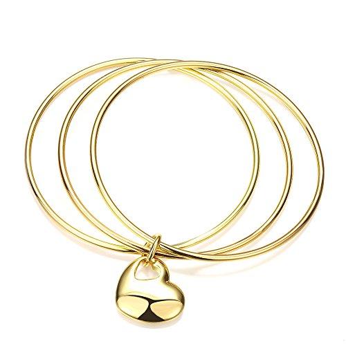 TPhui Jewellery Armband met hartjes, 18 karaats goud, eenvoudige moderne elegantie