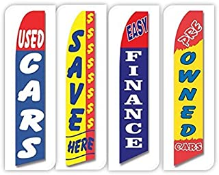 Used Cars Flag Windless Swooper 4 Lot Set Auto Save 0% Finance Pre Owned Yellow