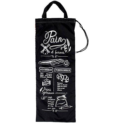 Promobo - Bolsa para el pan, diseño retro con texto en francés y cuadros Vichy