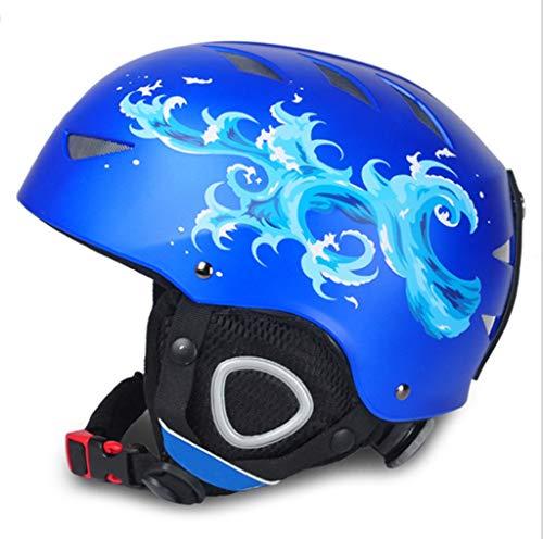 Skihelm Kinderfineer Dubbel Board Blauw Spray Ski Cap Jongens En Meisjes Buiten Klimmen Extreme Ski-uitrusting