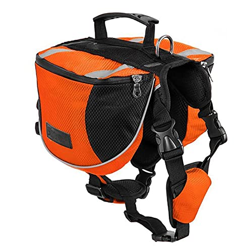 Lifeunion Polyester Dog Saddlebags Pack Hound Travel Camping Hiking Backpack