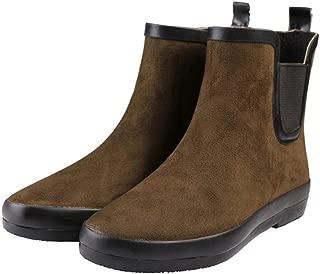 MEIGUIshop Rain Boots - Short Tube Plus Velvet Waterproof Shoes rain Boots Booties