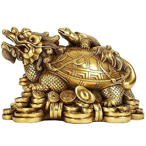 NanXi Feng Shui Messing Statue Drachenschildkröte Statue Reichtum Wohlstand Skulptur-Verzierung Beste Einweihungs Congratulatory Geschenk Home Decor