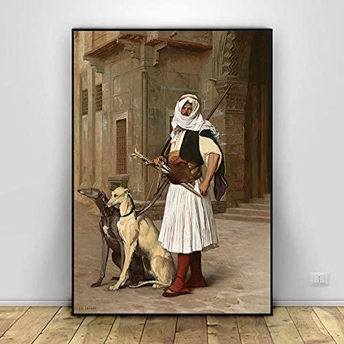 Serie de pinturas en lienzo más famosa del mundo, pintor francés Jean Leon Gerome, carteles impresos, imagen artística de pared para sala de estar