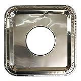100 Pcs. Aluminum Foil Square Gas Burner Disposable Heavy Thick Quality Bib Liners Covers (8.5' Square)