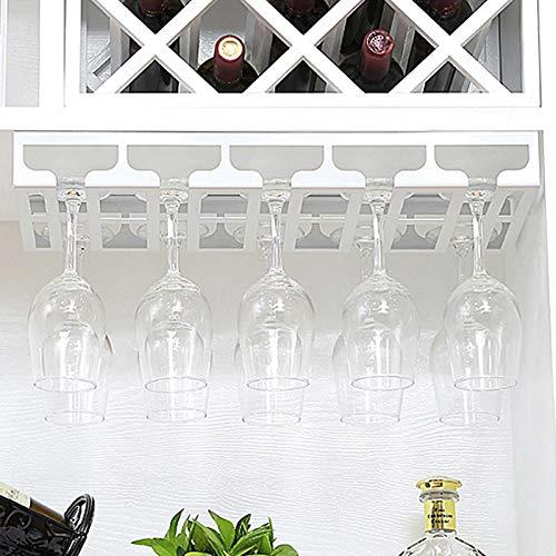 Portavasos para Pubs Soportes para Copas de Vino Que cuelgan Debajo del Estante Vasos al revés para Armario Soporte para estantes de Vidrio Retro Metal 5 Filas