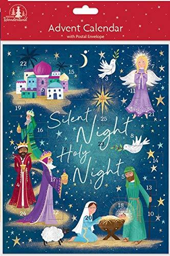 Christmas Advent Calendar – Religious Silent Night Nativity Scene 8″ x 9.75″