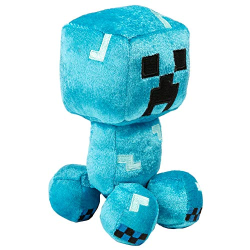 Microsoft Minecraft Happy Explorer Charged Creeper Plüschspielzeug, blau, 17,8 cm hoch, JX10175