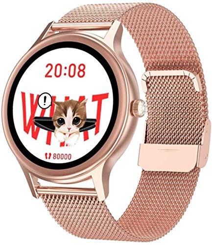 Reloj inteligente para hombre y mujer, IPX68, resistente al agua, pulsera deportiva con monitor de presión arterial de frecuencia cardíaca Bluetooth,