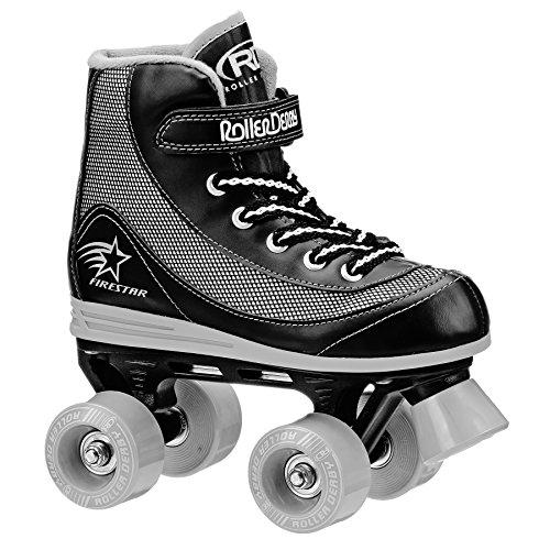 Roller Derby 1378-02 Youth Boys Firestar Roller Skate, Size 2, Black/Gray