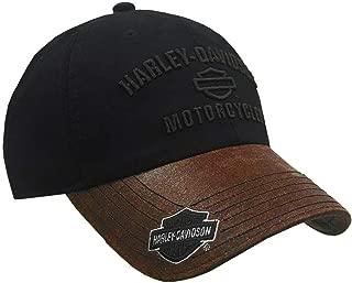 HARLEY-DAVIDSON Men's H-D Motorcycles Logo Baseball Cap, Black/Brown BCC51639