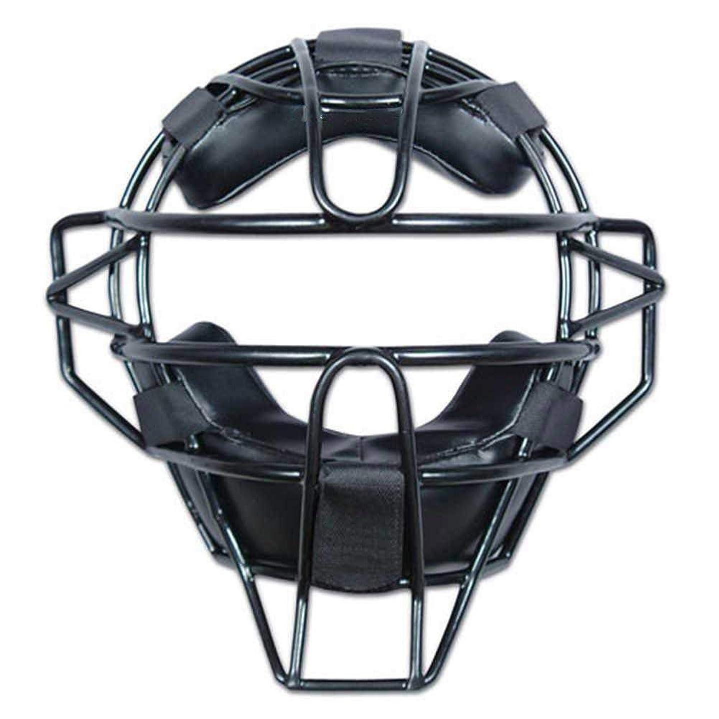 カスケードいらいらする呼吸億騰 保護フェイスマスク 野球 ソフトボール 防具 キャッチャー 運動保護 フェイス ガード マスク 大人用 ブラック