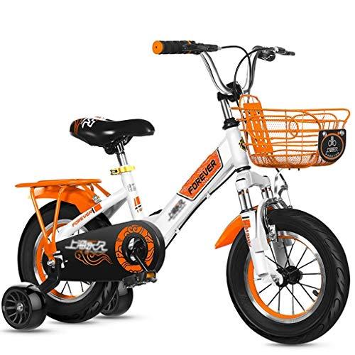 YLLN Bicicletas Pedal para Exteriores Triciclo para niños Bicicleta de montaña para niños Bonita Bicicleta Adecuada para niños y (Color: Rojo, tamaño: 14 Pulgadas)
