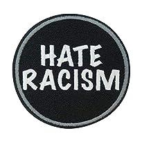 Bügel-Patch Motiv Hate Racism 7,9cm x 7,9cm