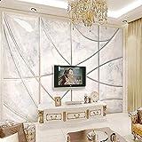 Creative Marble Texture 3D Soft Pack Geométrico Para Sala De Estar Tv De Fondo Mural De Pared Decoración Para El Hogar Papel Tapiz 3D Fresco-350 * 245Cm