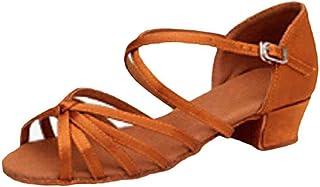MUCHAO Chaussures de Danse Latine pour Filles Chaussures de Couleur Unie Chaussures de Salle de Bal Confort Unique