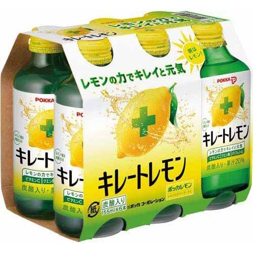 ポッカサッポロ キレートレモン 155ml×6本×4