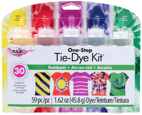 Tulip OneStep 5 Color TieDye Kits Rainbow162oz