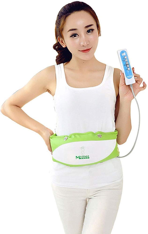 SXTYRL Abnehmen Massage SchlankheitsgüRtel, Bauch Elektrischer Krpergürtel Fettmassagegert Gewichtsverlust zur rotuzierung von Magenartefakten Fauler Mann schüttelte, Grün