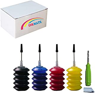 INKMATE Refill Dye Ink Kit for Canon PG 245 CL 246 / PG 245XL CL 246XL Black and Color Ink Cartridge (4 x 30ML) for Canon Pixma iP2820 MG2420 MG2520 MG2920 MG2922 MG2924 MX490 MX492 Printer