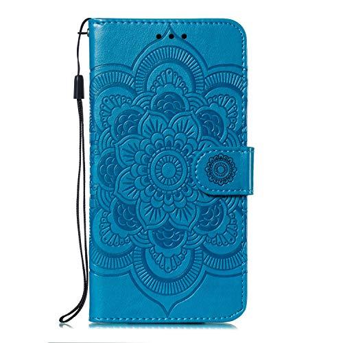 Hülle für [Nokia 6.1 Plus] Hülle Handyhülle [Standfunktion] [Kartenfach] [Magnetverschluss] Tasche Etui Schutzhülle lederhülle flip case für Nokia 6.1 Plus - JEEB011446 Blau