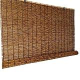 Persianas de rodillos de bambú transpirables, 50 cm 60 cm 70 cm 80 cm 90 cm 100 cm 110 cm 120 cm 130 cm 140 cm de ancho, persianas de sombrilla, para en el interior Windows PERGOLA ( Size : 50×160cm )
