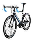 Eurobike XC7000 14 Speed Road Bike 54 cm Light Aluminum Frame 700C Road Bicycle Blue