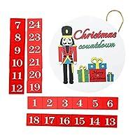 LIOOBO クリスマス雪だるまアドベントカレンダー木製ドアハンガーサイン日までクリスマスカウントダウン壁の装飾屋内屋外