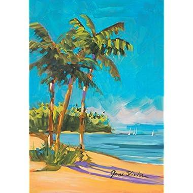 Toland Home Garden Island Time 12.5 x 18 Inch Decorative Tropical Summer Beach Ocean Sand Garden Flag
