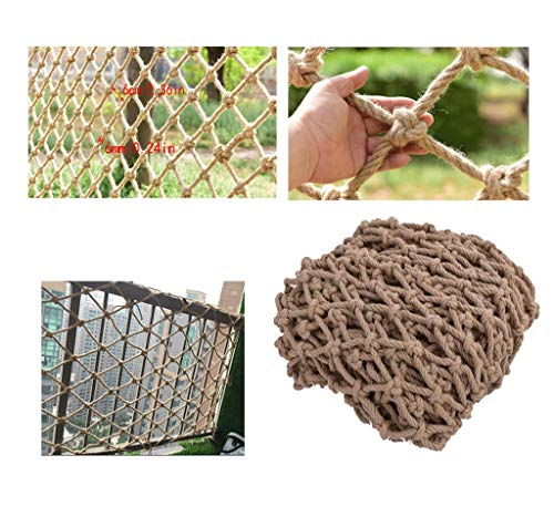 Sicherheitsnetz für Kinder, Kinder-Balkonsicherheitsnetz Treppen-Fallschutznetze Ziernetze Schutznetze Hanfseilnetz Retro-Balkendeckennetze Hängende Kleidernetze Kletternetze