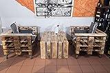 mobili da giardino in pallet, per gruppo