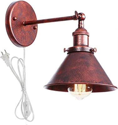 Industrial Retro Iron Metal Vintage Loft Rustic Wall Sconce Light Fixture Lamp