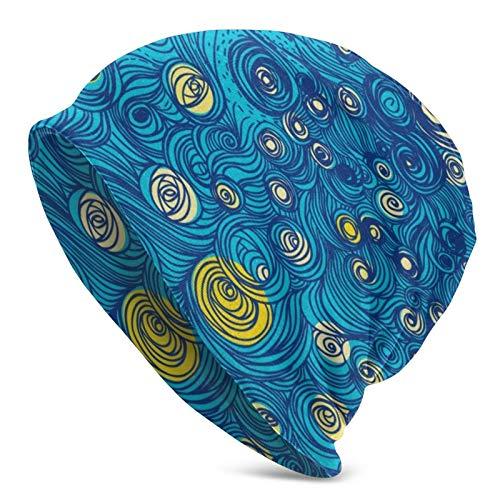 Gorra de Calavera Wonderful Stars Shine Starry Night Sombrero de Punto para Adultos Beanie Hat Jerseys para Hombres y Mujeres
