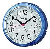 SEIKO Réveil Radio-piloté en Plastique Bleu 11,8 x 10,8 x 6,3 cm